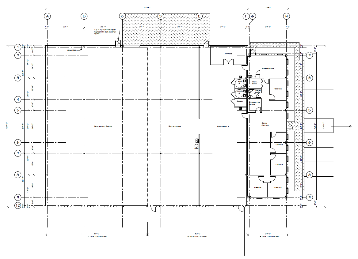 Stephen brown architects for Metal building office floor plans